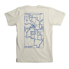 Magnolia Map Tee - Off White/Navy