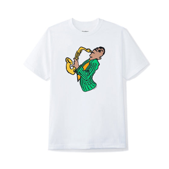 Butter Goods Sax Tee White Large