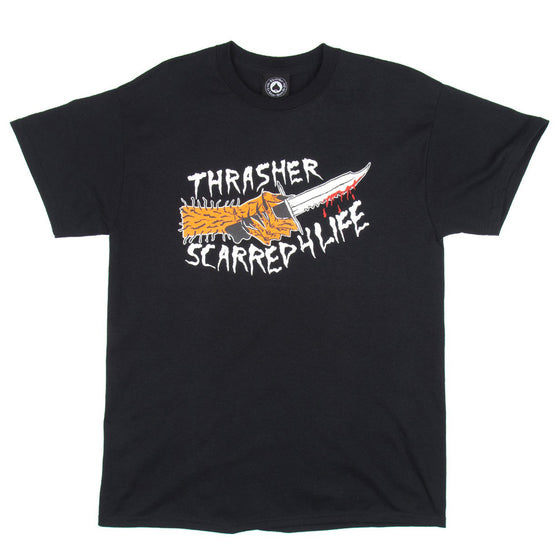 Thrasher Scarred 4 Life Tee Black