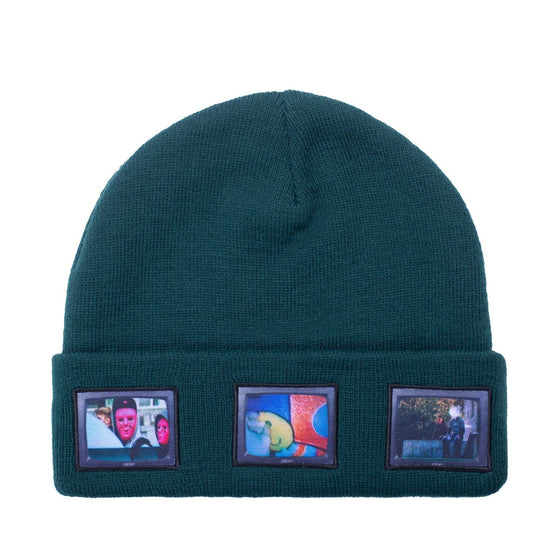 Hockey Screens Beanie - Dark Green