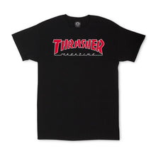 Thrasher Outlined Tee Black/Red