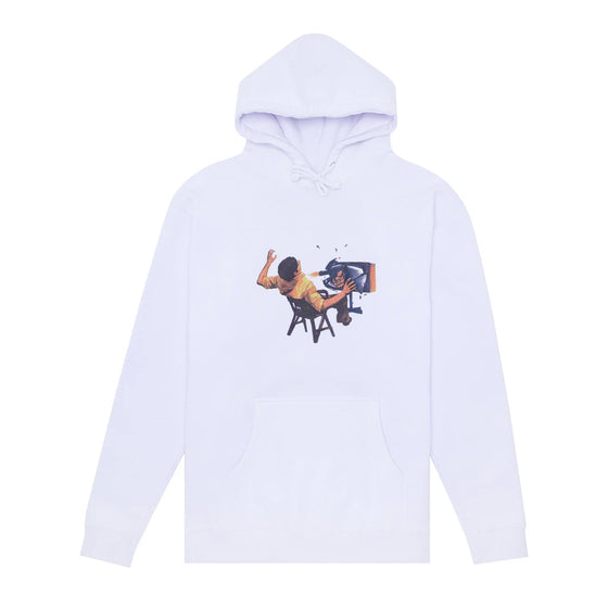 Hockey Ultraviolence Hoodie - White - Large