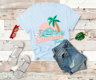 Summertime with Palm Tree