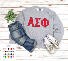 Load image into Gallery viewer, Alpha Sigma Phi on Sweatshirt