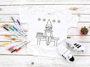Elf on the Shelf Coloring Screen