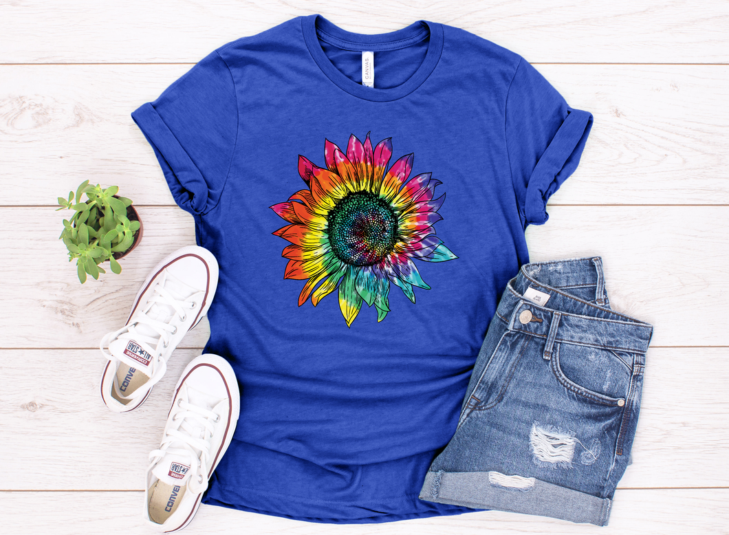 Full Color Tie Dye Sunflower
