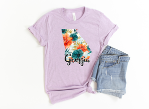 Floral state outline-Georgia