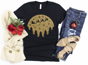 Metallic Gold Christmas Scene
