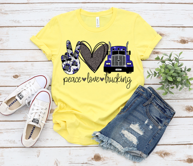 Peace Love Trucking- Blue