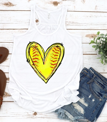 Softball Heart
