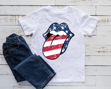 Distressed patriotic Tongue