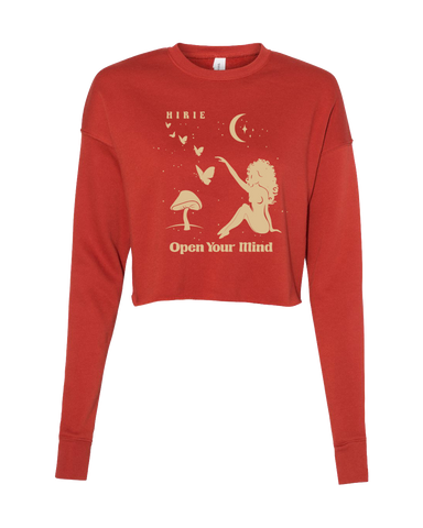 Women's Mushroom Cropped Crew Fleece
