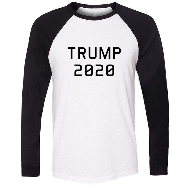 2020 TRUMP Victory Print Tshirts Mens Political Election Campaign Graphic Long-Sleeve Tee America Flag Clothes Power Shirts Tops - Trump 2020 Tees