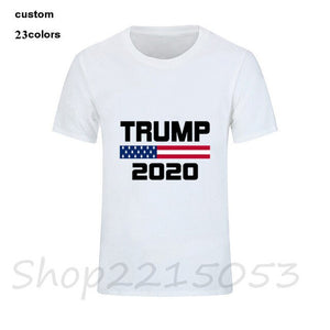 2020 Men Tshirts Creative American Flag Keep America Great Donald Trump President USA 2020 Republican T Shirt Men O-Neck T-Shirt - Trump 2020 Tees
