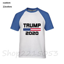Load image into Gallery viewer, 2020 Men Tshirts Creative American Flag Keep America Great Donald Trump President USA 2020 Republican T Shirt Men O-Neck T-Shirt - Trump 2020 Tees