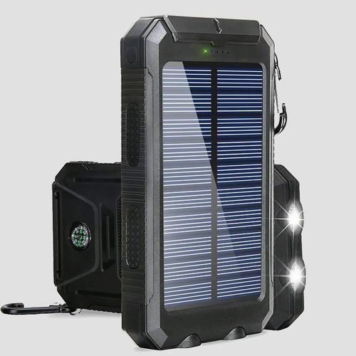 Waterproof 30000mAh Solar - Powerbank- Dual USB