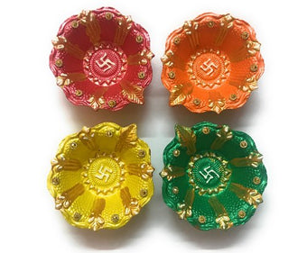 Diya 4 pcs Set No 10