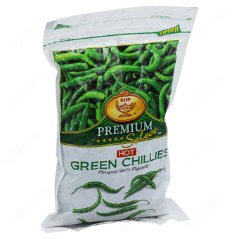 Green Chillies Hot 340g Deep