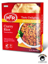 MTR RTE CURRY RICE 250G
