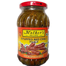 Mother's Stuffed Red Chilli Pickle 500g
