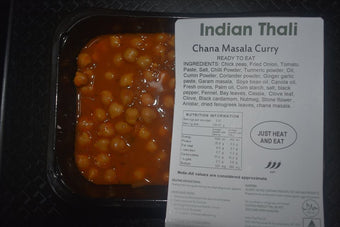 Chana Masala Indian Thali