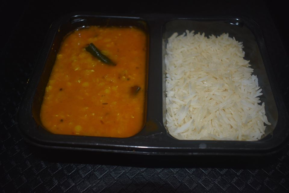 Rice and Dhal Indian Thali