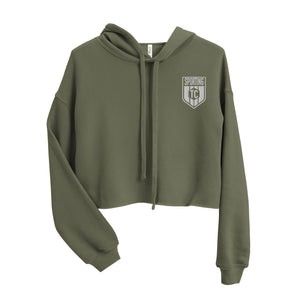 Sporting TC Embroidered Crest Crop Hoodie