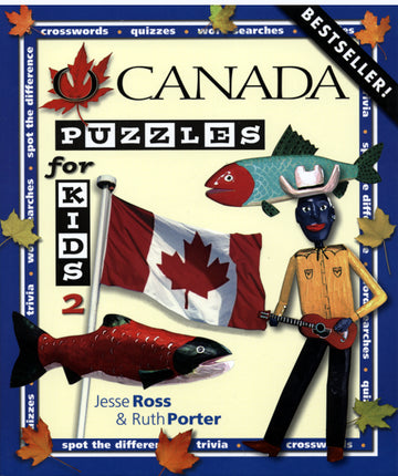 O Canada Puzzles for Kids Book 2