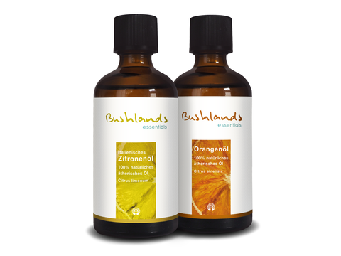 Zitrusöle im Set (Orange & Zitrone) 2x 100 ml