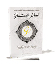 Load image into Gallery viewer, Gratitude Pen & Pad Set (Chrome pen edition)
