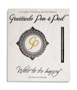 Gratitude Pen & Pad Set (Chrome pen edition)