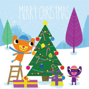 Christmas Card cute bear design (spend over £30 and get a card free)