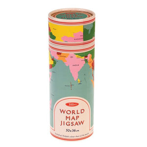 World Map in a tube