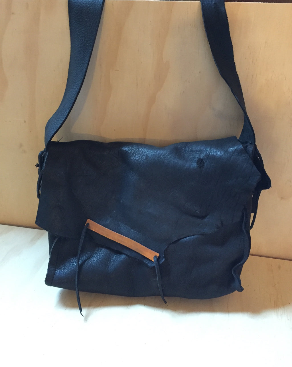 deer bag with flap black