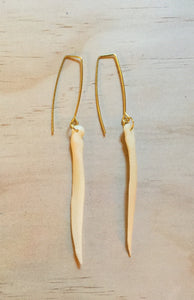 Deer awl earrings