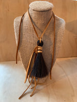 Horse hair necklace acorn