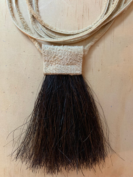 Horse hair necklace suede