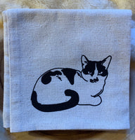 kitty dish towels