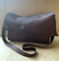 buffalo leather bag-chocolate
