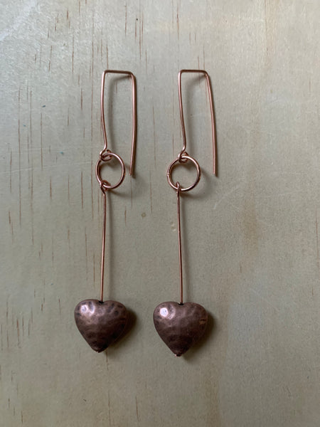 heart with ring - copper