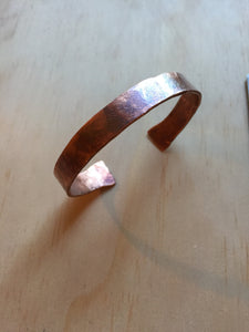 coppper cuff - hand formed