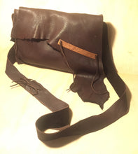 Load image into Gallery viewer, brown deer leather and copper bag