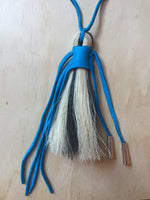 Horse hair necklace Turquoise large