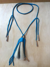 Load image into Gallery viewer, Horse hair necklace Turquoise large