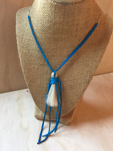 Horse Hair Necklace Turquoise small