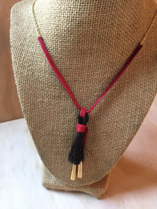 Horse Hair Necklace Red small