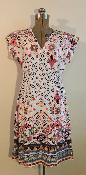 pull over dress-sun pattern