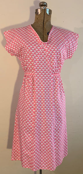 pull over dress-pink triangles