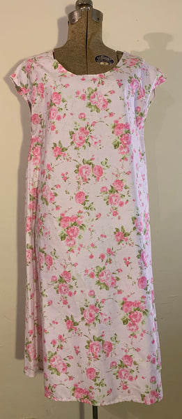 pull over dress-light pink floral