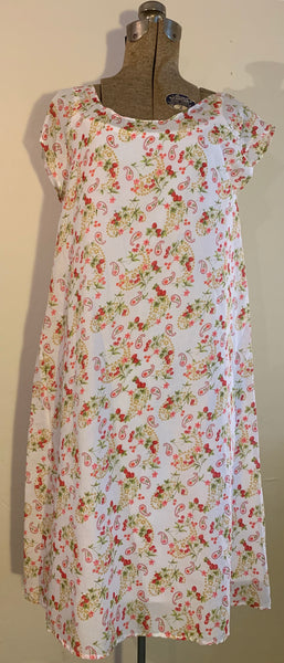smock dress-strawberries